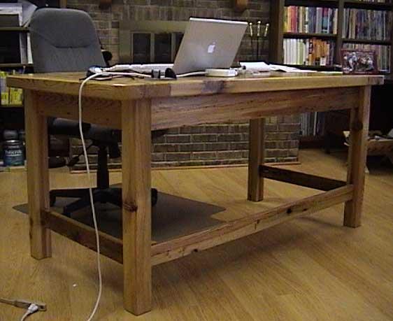 Custom Made Heart Pine Desk