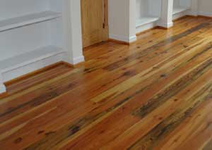 Antique Heart Pine Flooring milled by CGI and Installed in a Central Alabama Home