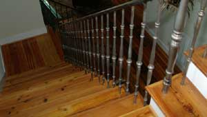 Beautiful Heart Pine Stair Treads milled by Processingwood.com