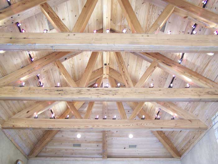 Trusses made by CGI from 100 year old Antique Heart Pine