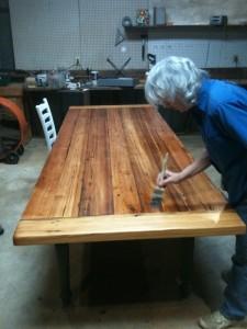 Ten Foot Heart Pine Table