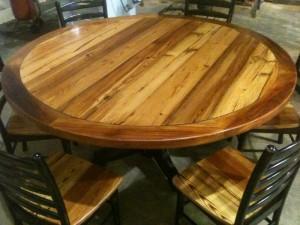 Large diameter heart pine table